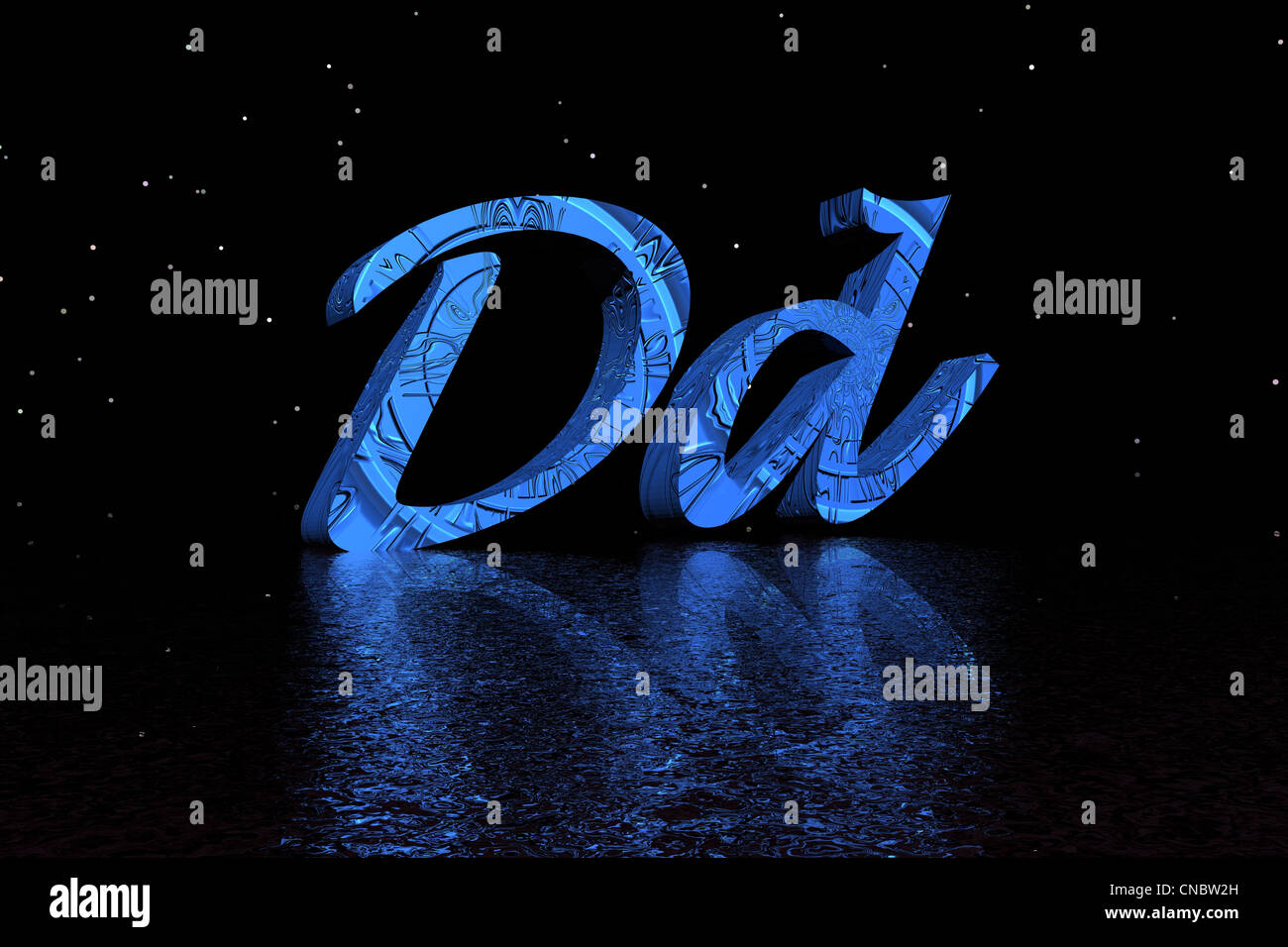 letter d blue and black - Stock Image