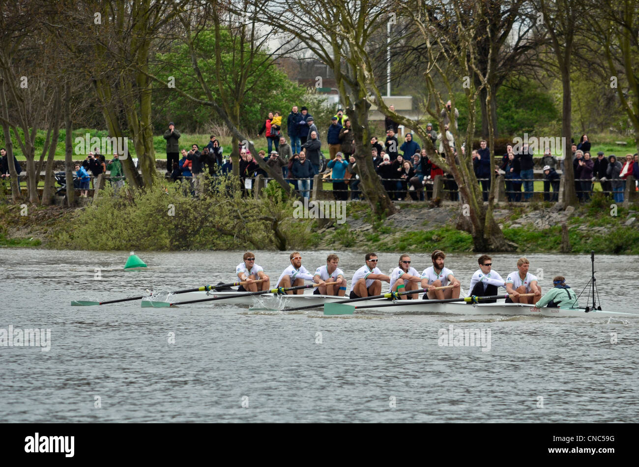 Cambridge Team - The 158th Xchanging Oxford vs Cambridge Boat Race - London 07 Apr 2012 - Stock Image