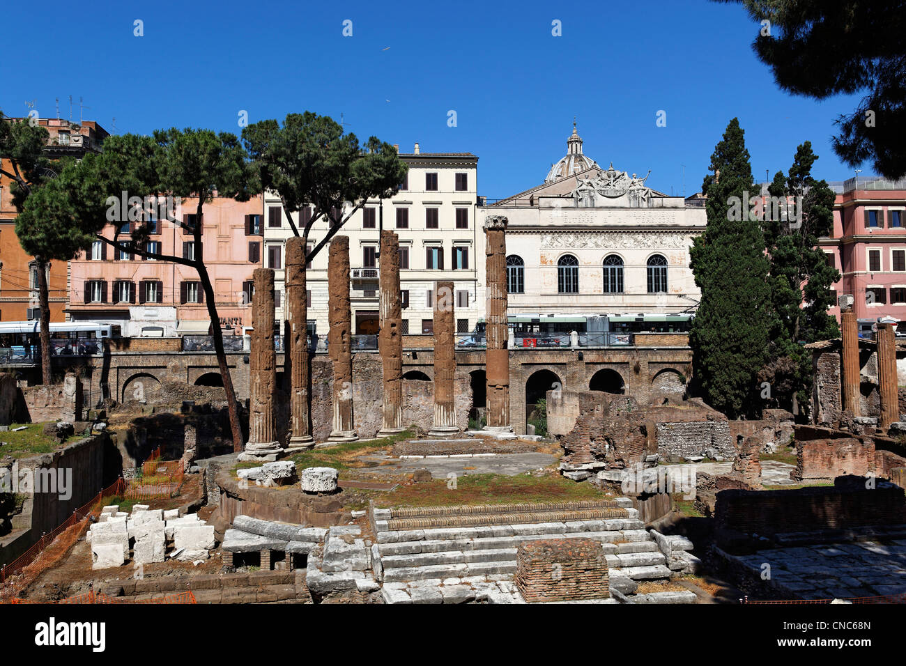Italy, Lazio, Rome, historical center listed as World Heritage by UNESCO, ruins, Area Sacra di Largo Argentina - Stock Image