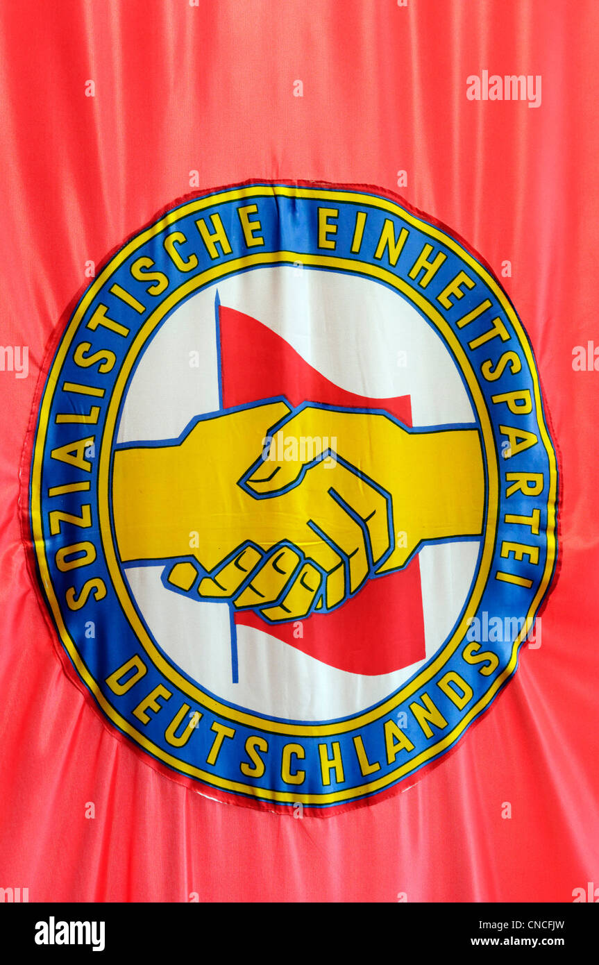 THe emblem of the East German ruling party, the SED - Stock Image