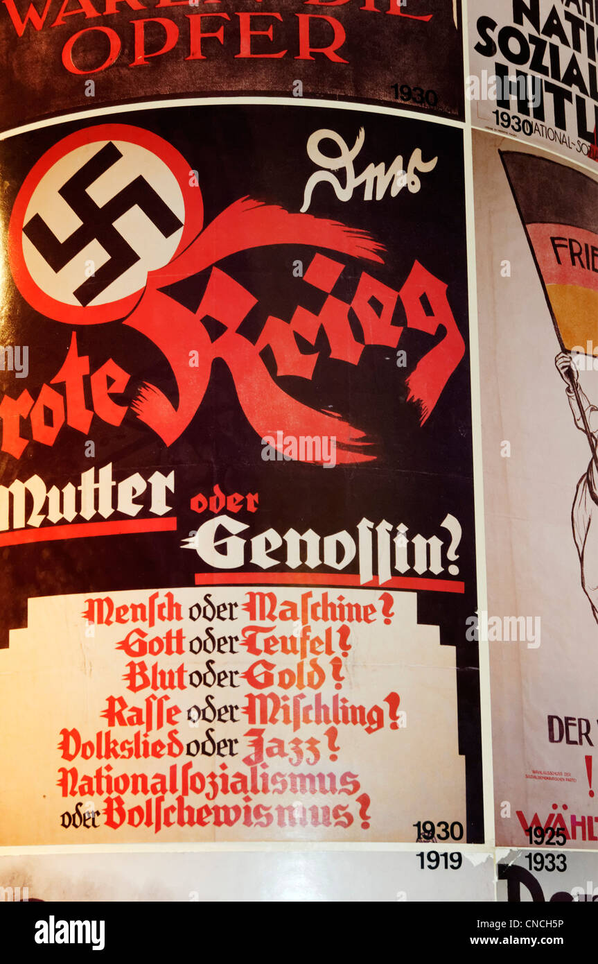Nazi Party election poster from the 1930s Germany - Stock Image