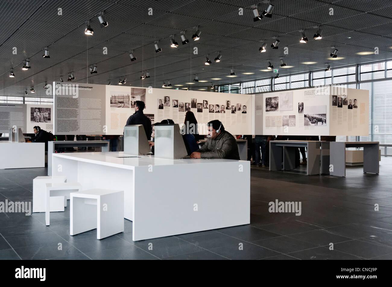 Inside the Topography of Terror museum in Berlin - Stock Image