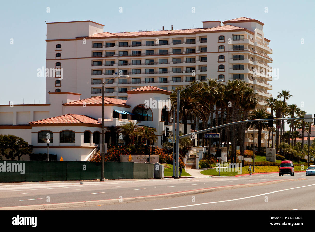 The Hilton waterfront Beach resort Huntington Beach California on highway one (PCH) - Stock Image