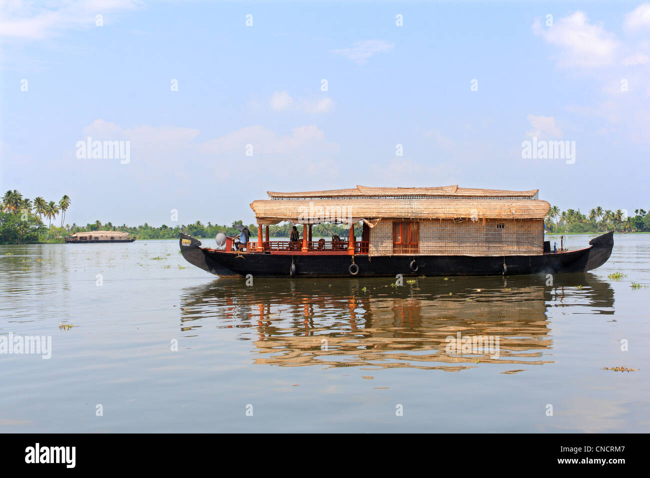 house boat, Kerala, India - Stock Image