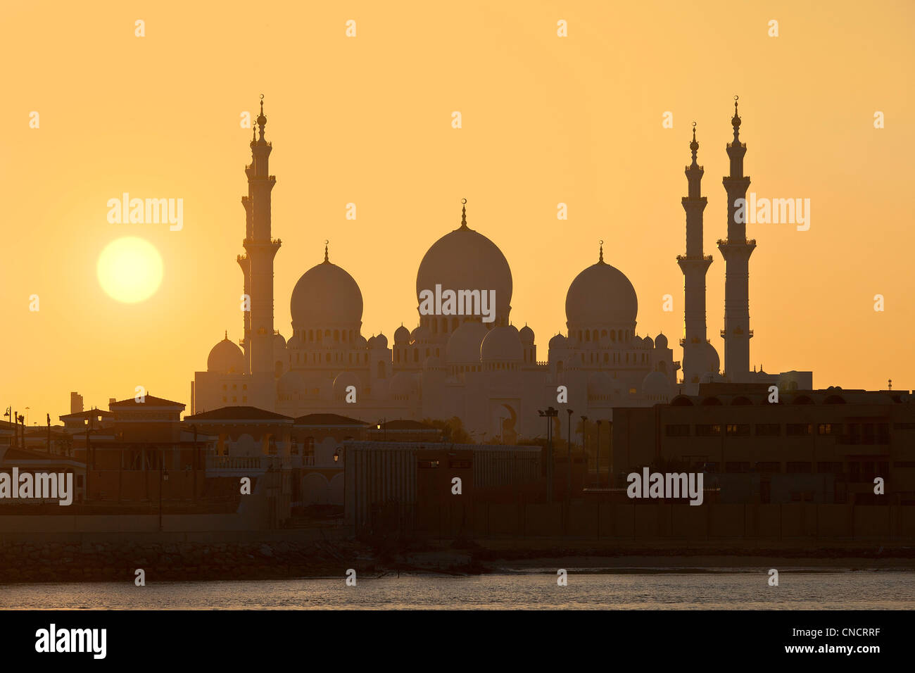 Abu Dhabi , Sheikh Zayed Mosque Stock Photo