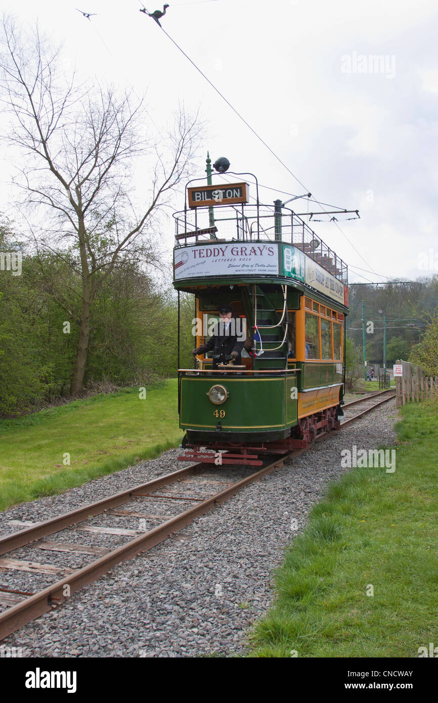 Tram, taken at The Black Country Museum, Dudley, West Midlands, UK - Stock Image