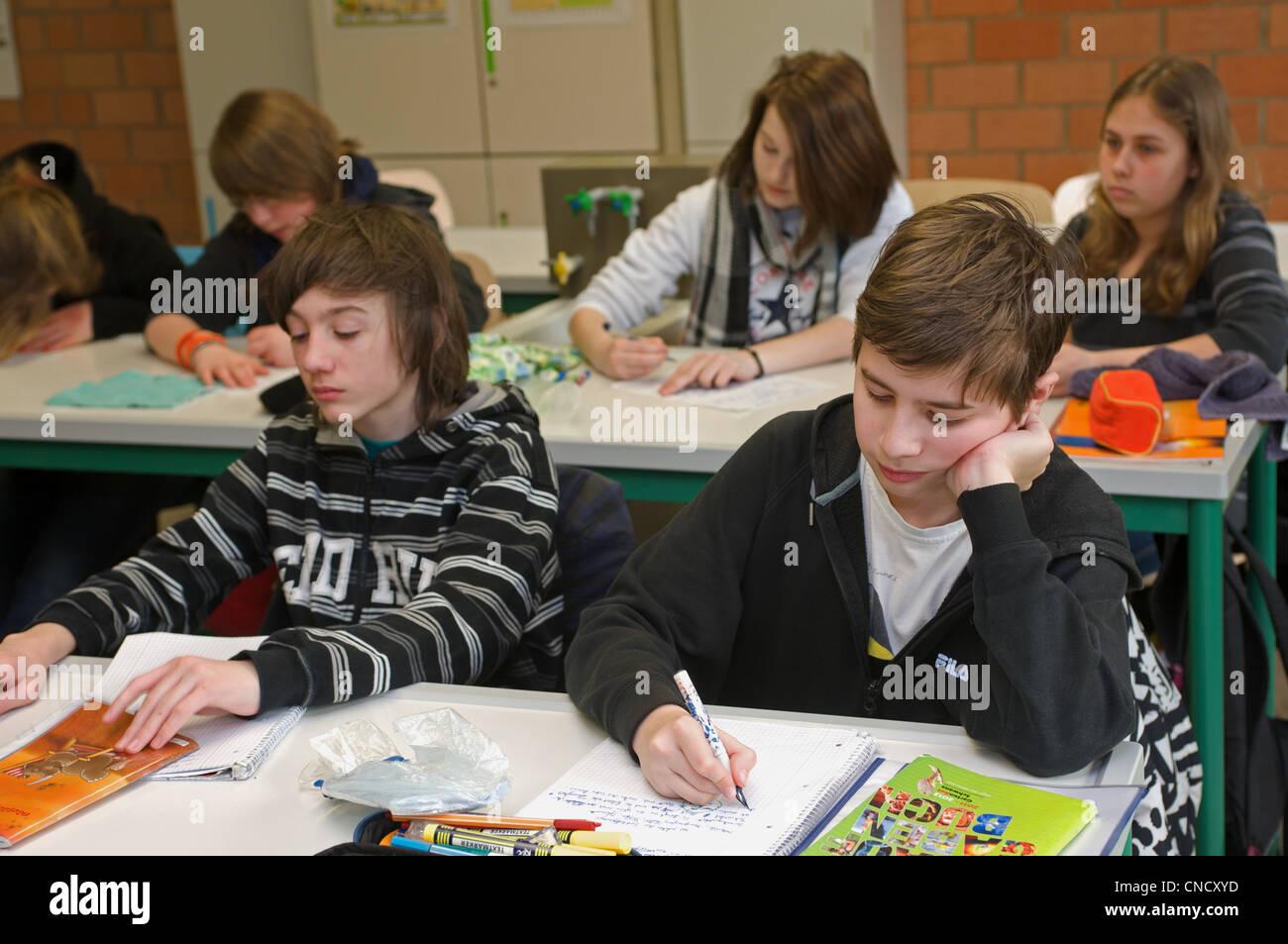 Schoolchildren Germany - Stock Image