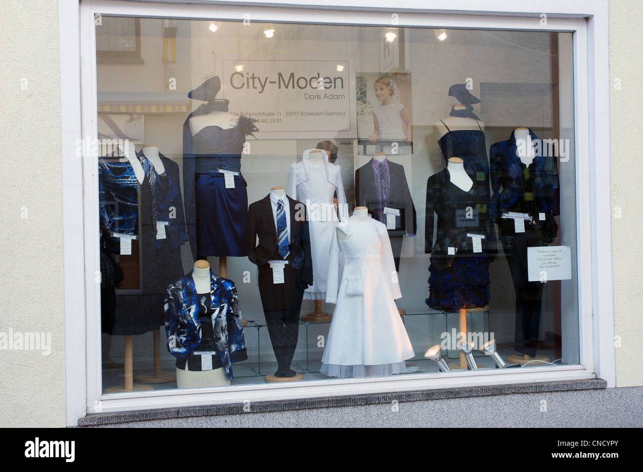 Formal wear clothes shop Germany - Stock Image