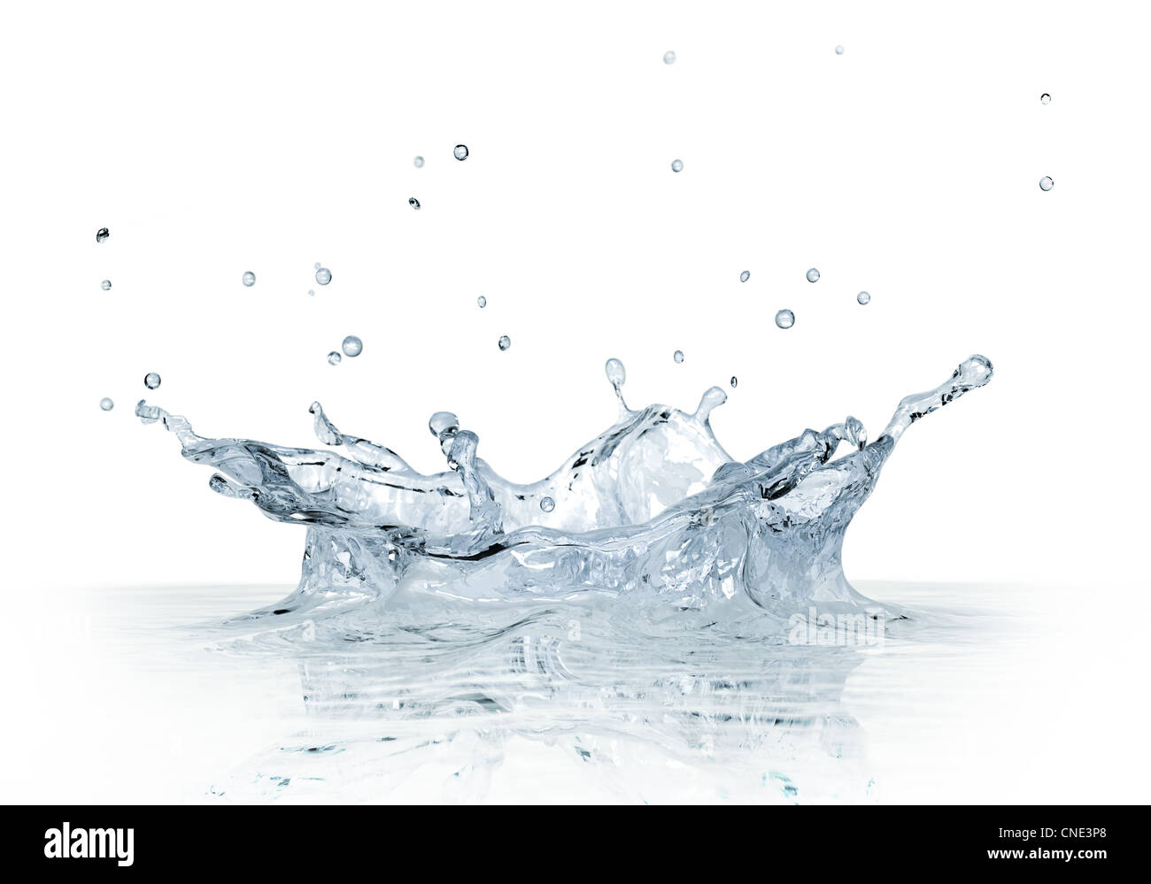 Splash water isolated on white background. - Stock Image
