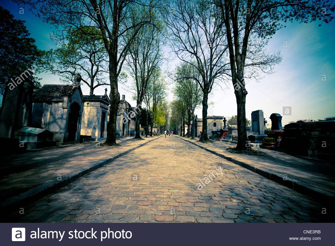 Père Lachaise Cemetery, Paris - Stock Image