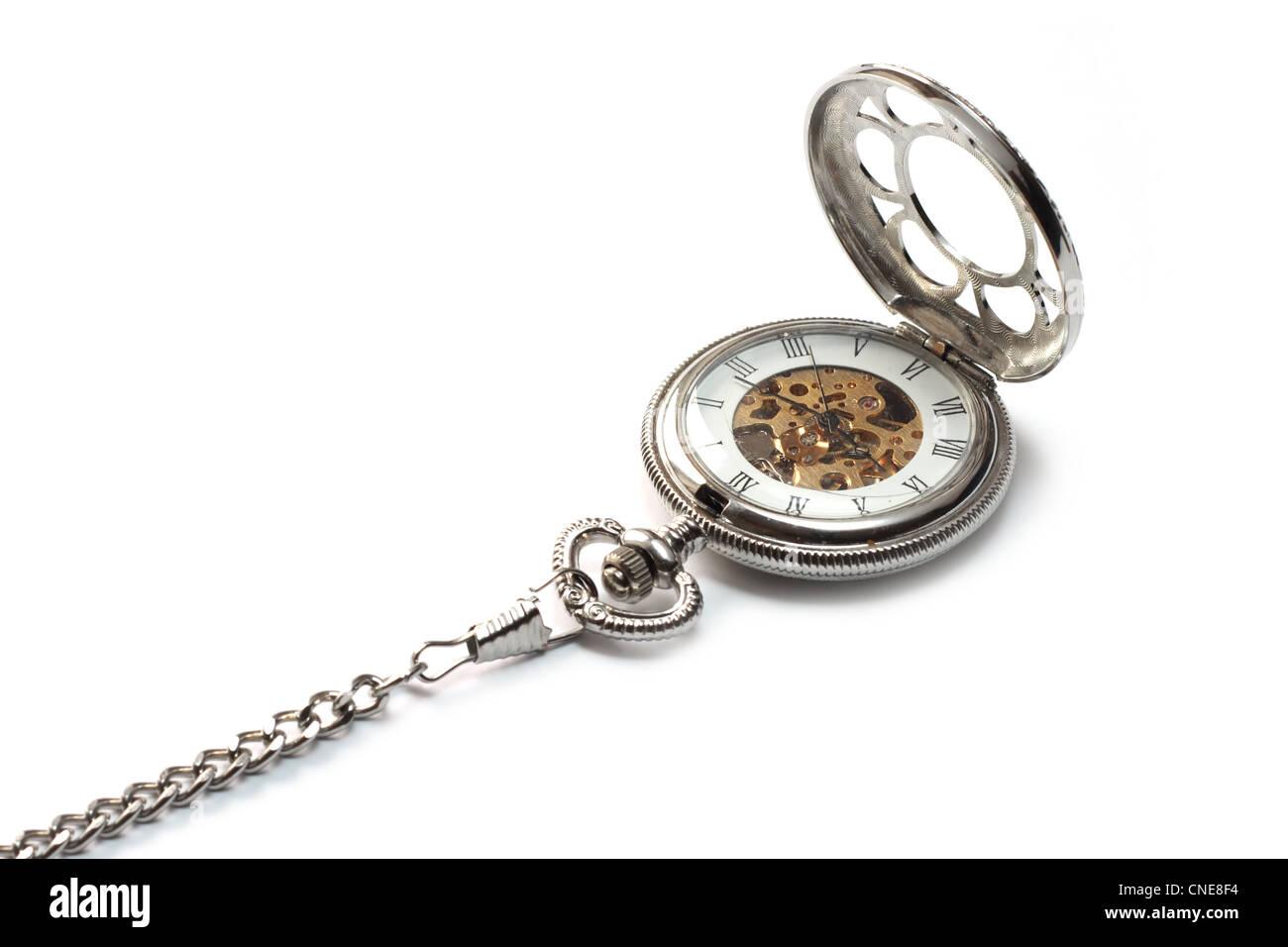 watch isolated on white background - Stock Image