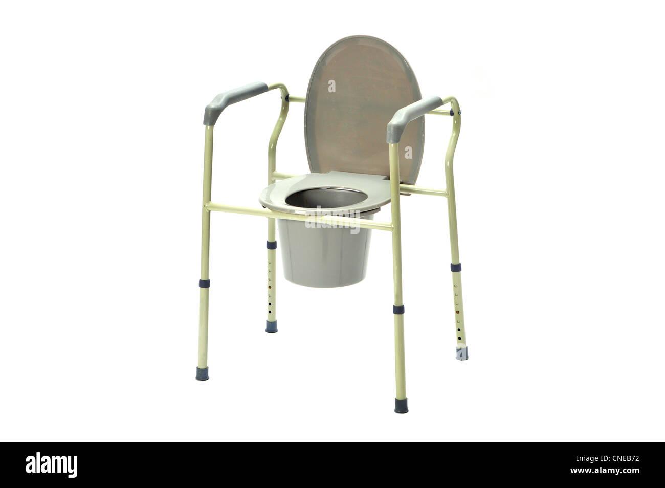 Portable toilet on white - Stock Image