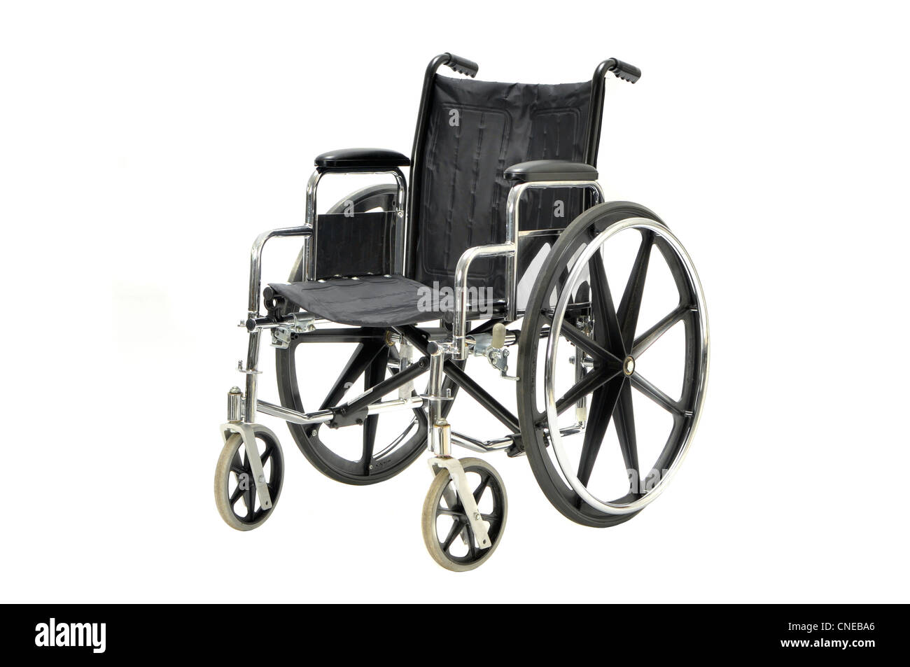 wheel chair on white - Stock Image