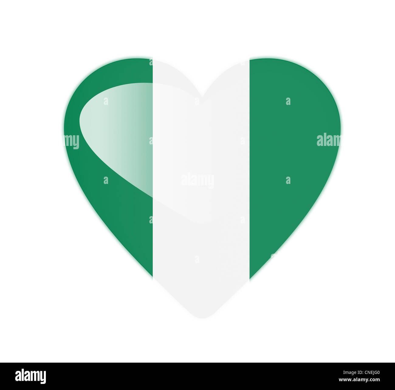 Vector nigeria flag heart glossy stock photos vector nigeria flag nigeria 3d heart shaped flag stock image ccuart Choice Image