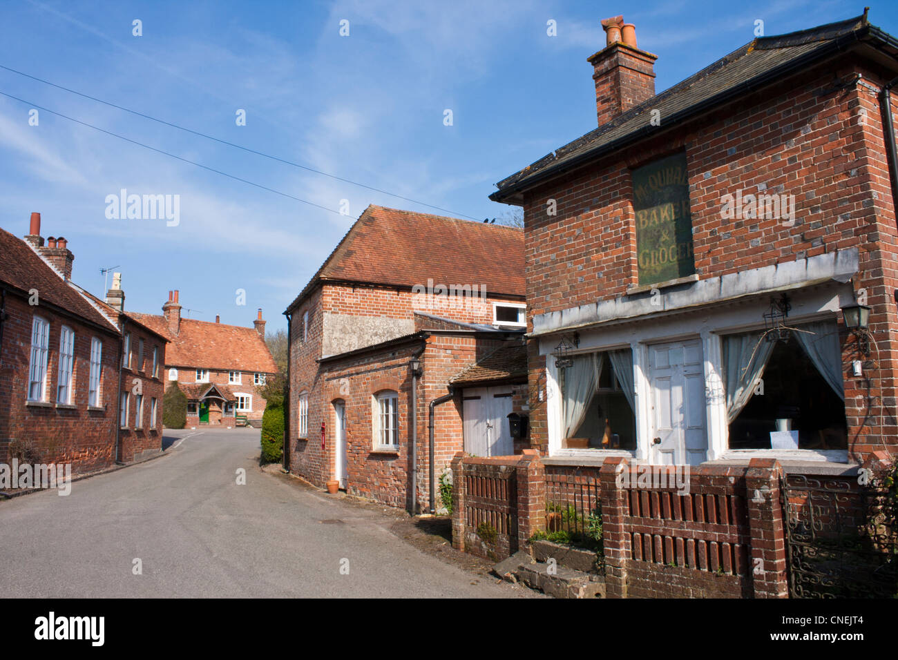 Country houses in the English village of Aldworth, Berkshire. - Stock Image