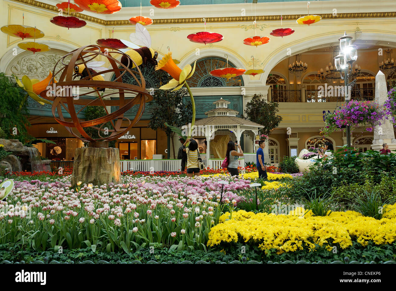 Bellagio Hotel and Casino, Gardens, Conservatory, Las Vegas, Nevada, USA Stock Photo