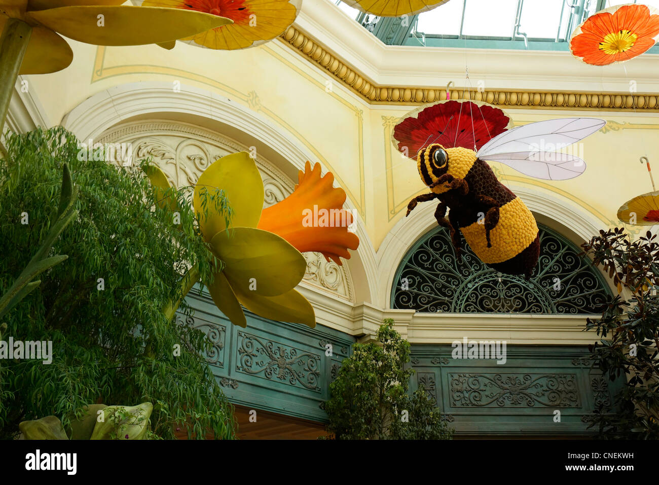 Inside the Bellagio Hotel and Casino, Conservatory, Gardens, Las Vegas - Stock Image