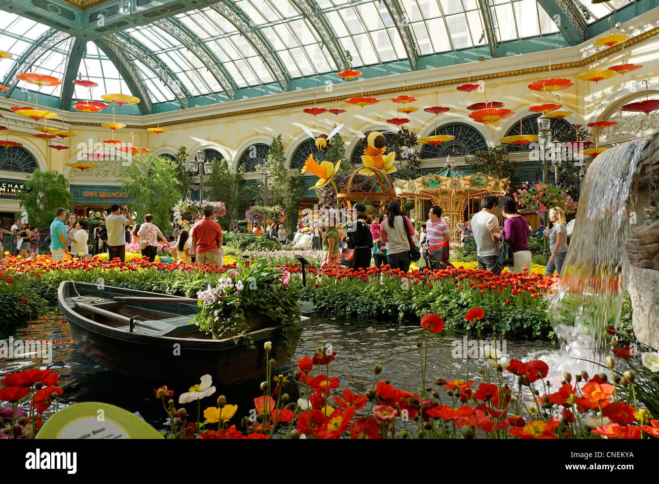 Bellagio Hotel and Casino, Gardens, Conservatory, Las Vegas, Nevada ...