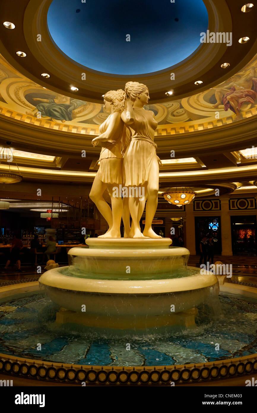 The Three Graces, statue in Caesars Palace Hotel, Las Vegas, Nevada, USA - Stock Image
