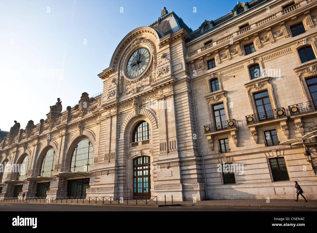 Musee d'Orsay clock face, Paris France - Stock Image