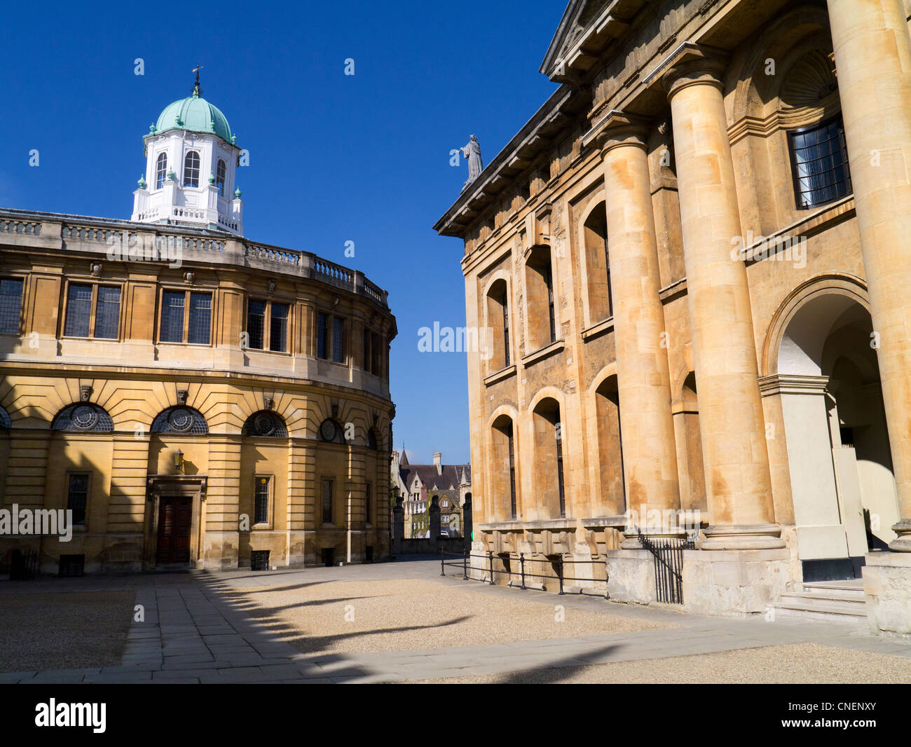 The Sheldonian Theatre and Clarendon Building, Oxford 4 - early spring morning Stock Photo