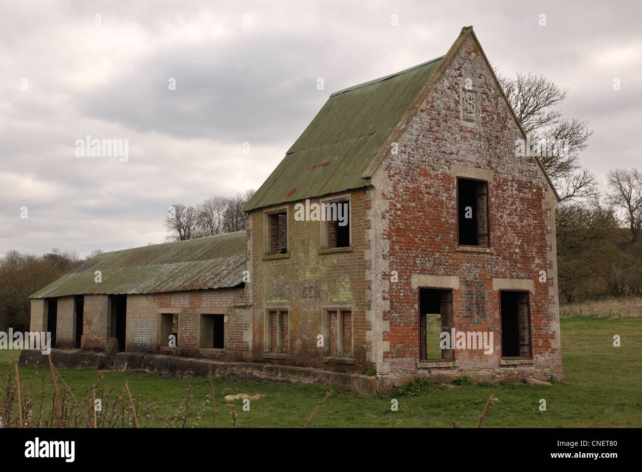 Imber, Salisbury Plain, Wiltshire - Stock Image
