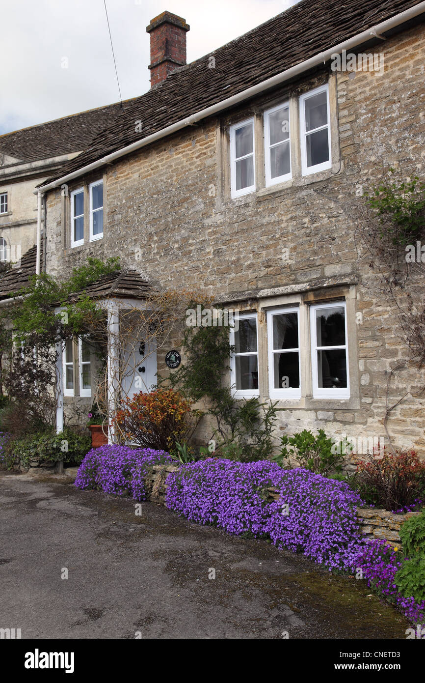 A cottage in Biddestone, Wiltshire, England - Stock Image