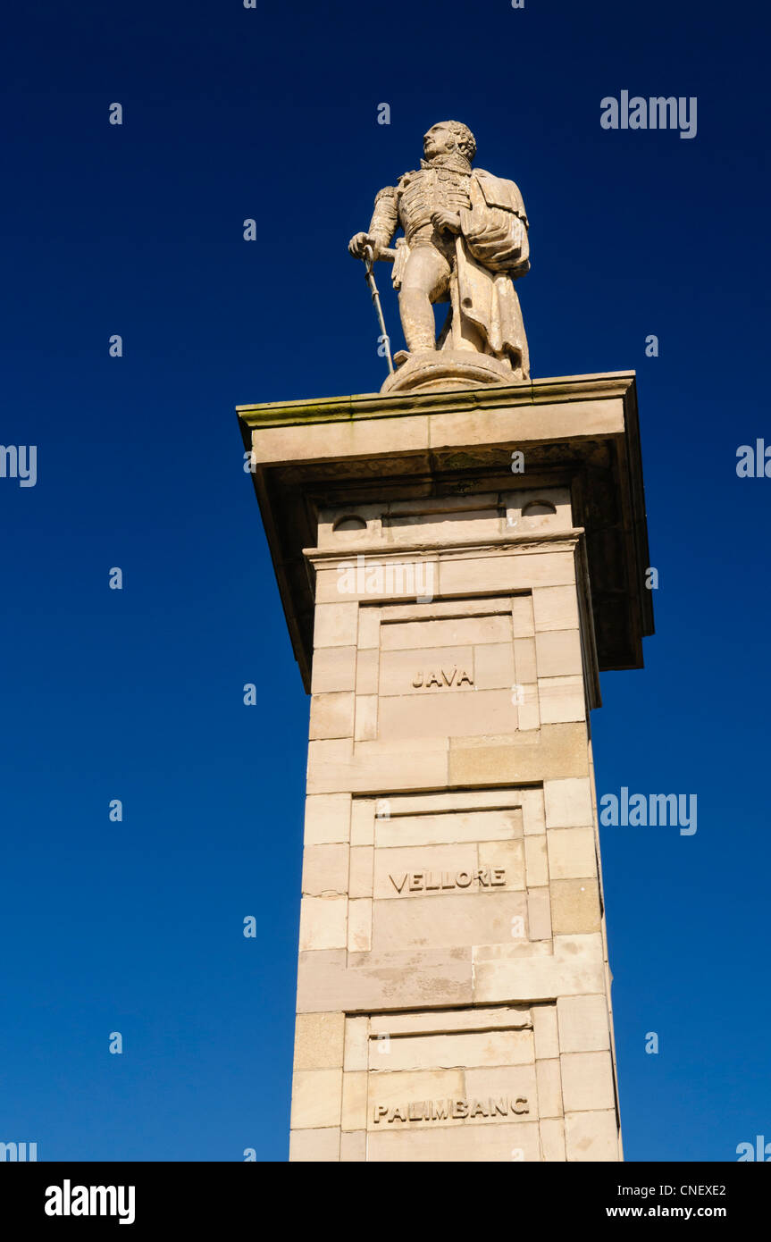 Statue of Major General Rollo Gillespie, Comber - Stock Image