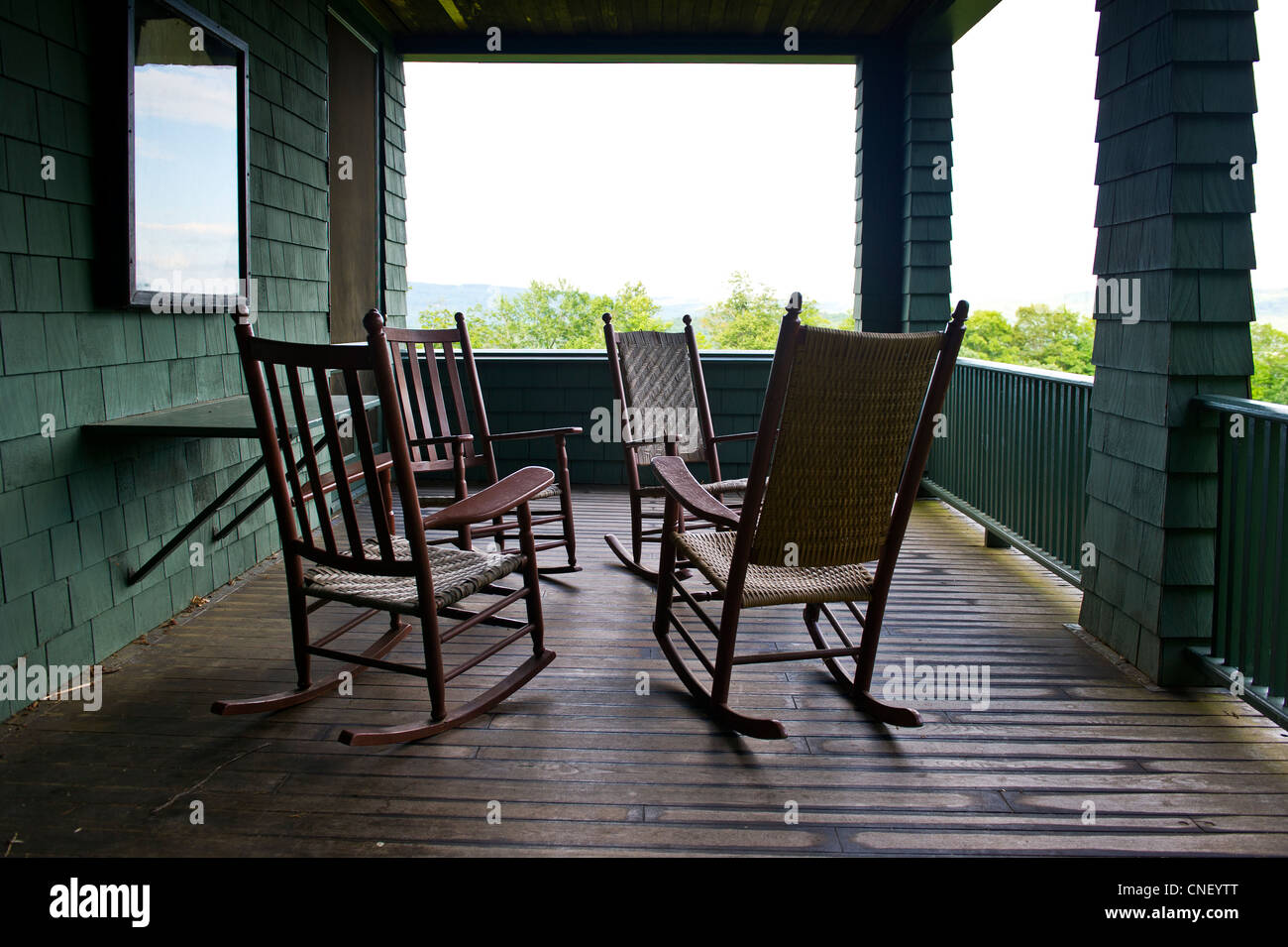Rocking Chairs On Veranda Of Naulakha, Rudyard Kipling House, Brattleboro  Vermont