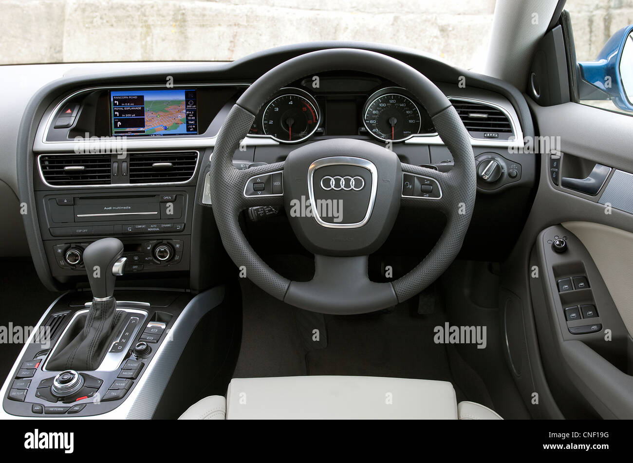 Audi A5 Sportback interior from the drivers perspective - Stock Image