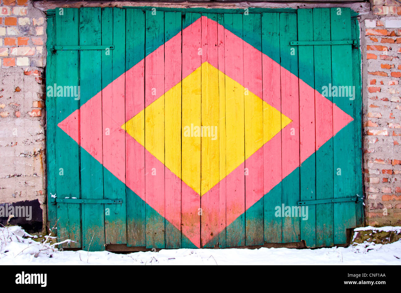 Wooden Garage Door Stock Photos Wooden Garage Door Stock Images