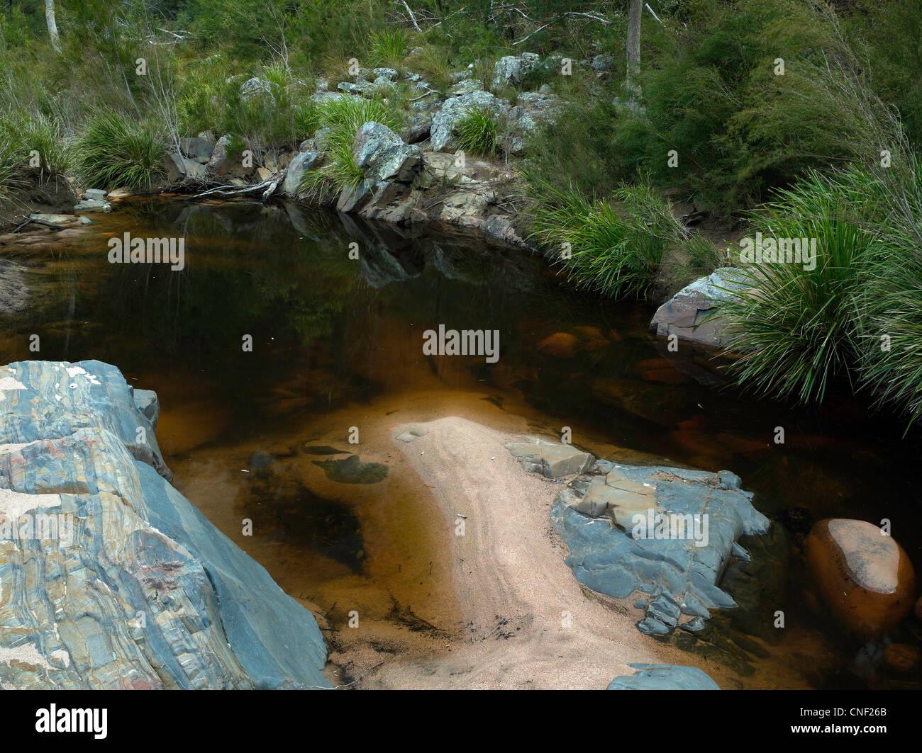 Billabong, Wadbilliga National Park, NSW Australia - Stock Image