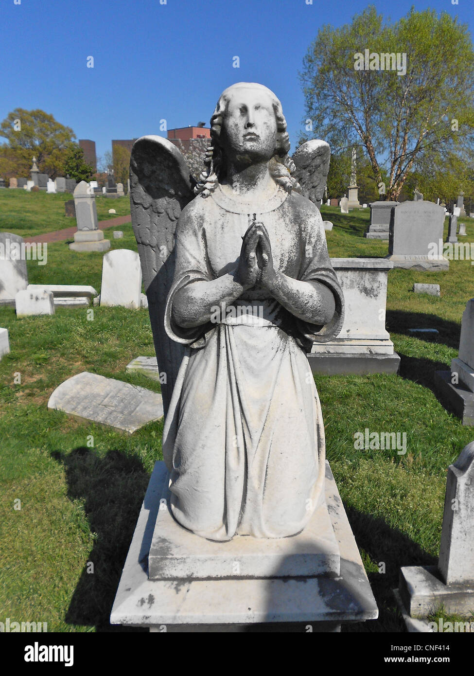 Grave of Alice May Parker, aged 14, at the Congressional Cemetery in Washington, DC - Stock Image