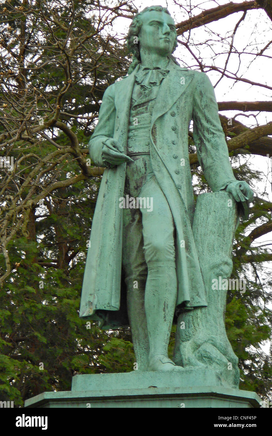 Schiller statue at Horticultural Center in Fairmount Park, Philadelphia. Dated about 1900. - Stock Image