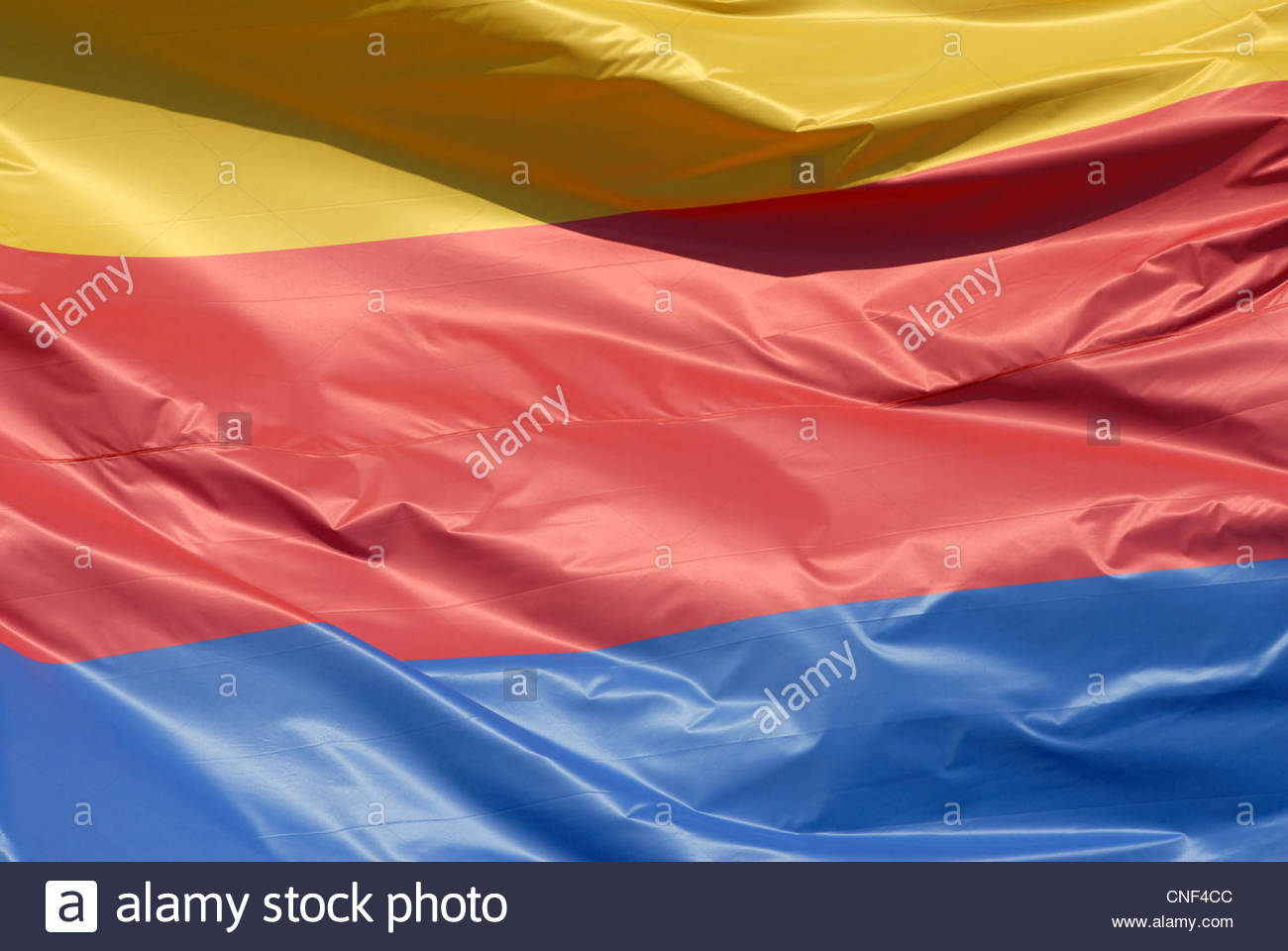 Amsterdam The Netherlands The flag of the province North Holland (Noord Holland) waving in the wind - Stock Image