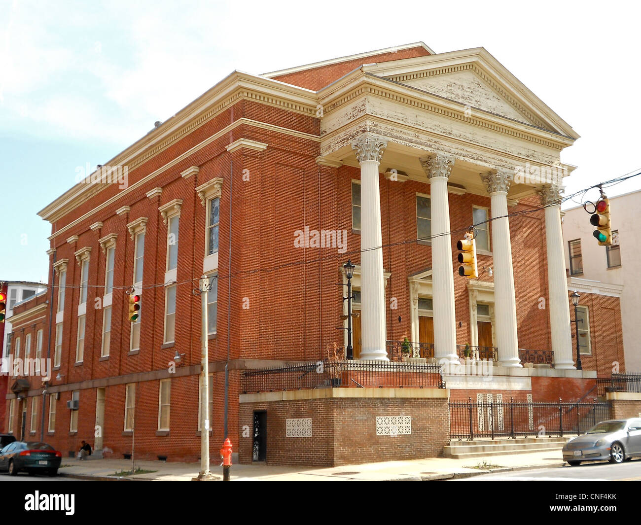Madison Avenue Methodist Episcopal Church on the NRHP since September 4, 1992. At 1327 Madison Ave. in central Baltimore, - Stock Image