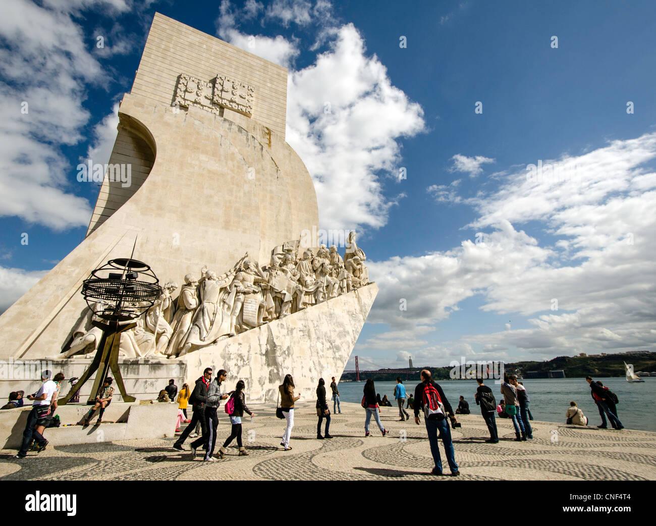 Monument to the Discoveries (Padrão dos Descobrimentos) Lisbon Portugal Europe - Stock Image