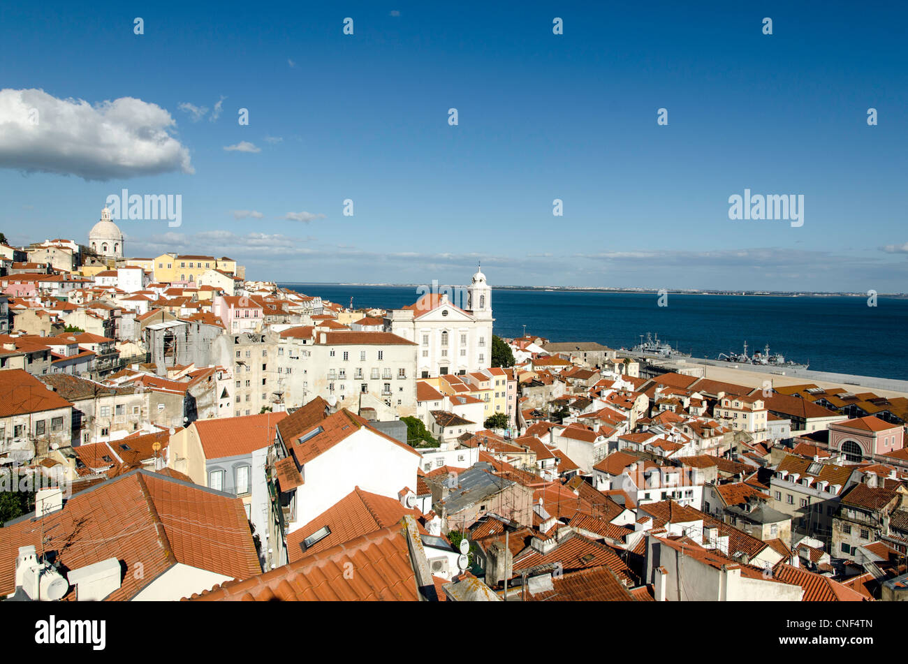 Alfama district Lisbon Portugal Europe Stock Photo