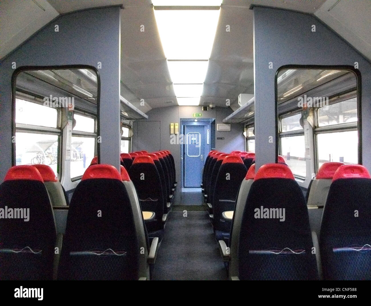The refurbished interior of First Great Western 'Local Lines' Class 153 No. 153329 - Stock Image