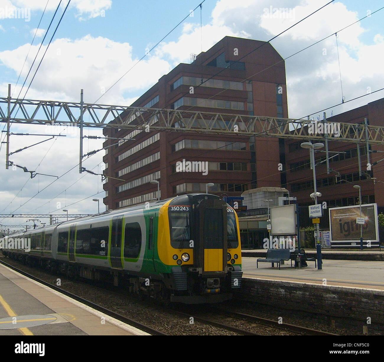 London Midland Class 350/2 Desiro No. 350243 at Watford Junction. - Stock Image