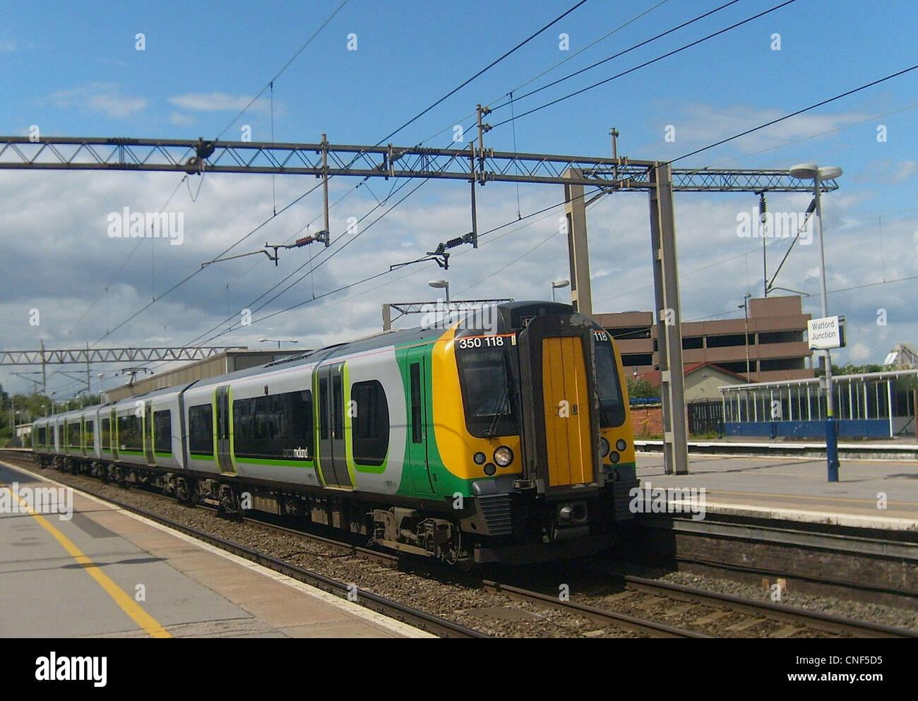 London Midland Class 350/1 Desiro No. 350118 at Watford Junction. - Stock Image