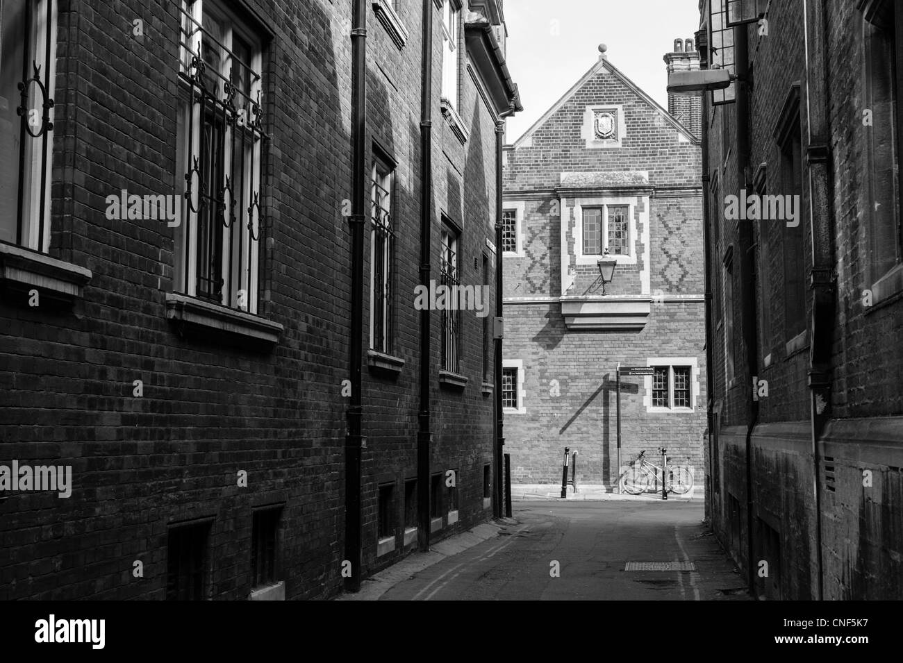 Garret Hostel Lane Cambridge showing old University buildings of Trinity Hall College. - Stock Image