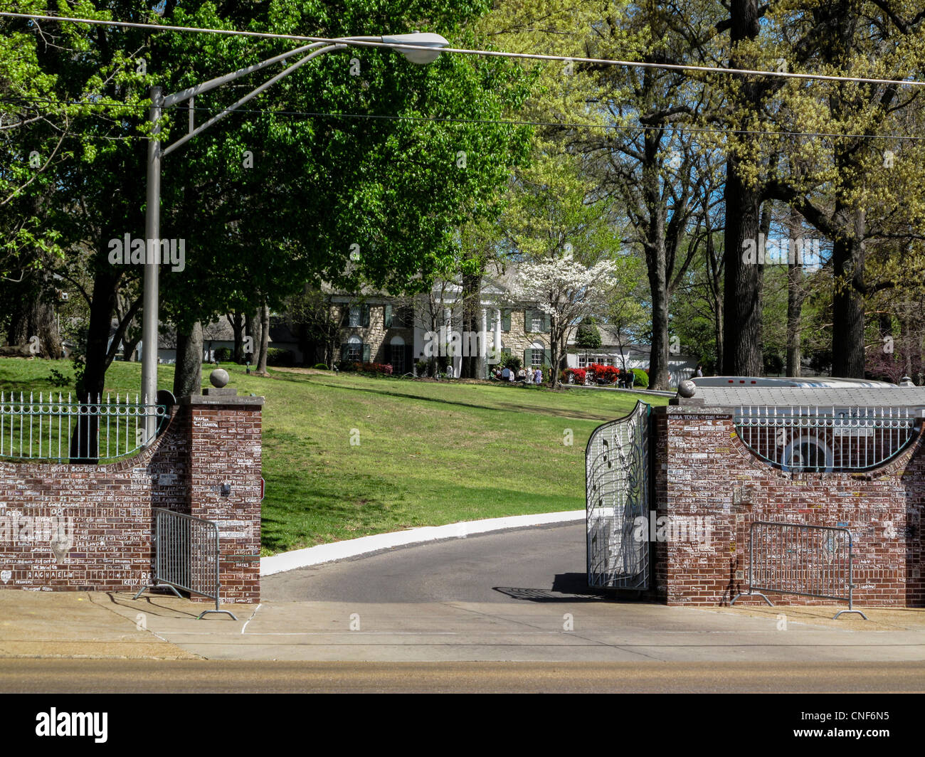 Elvis Presley's home and museum Graceland, entrance to the