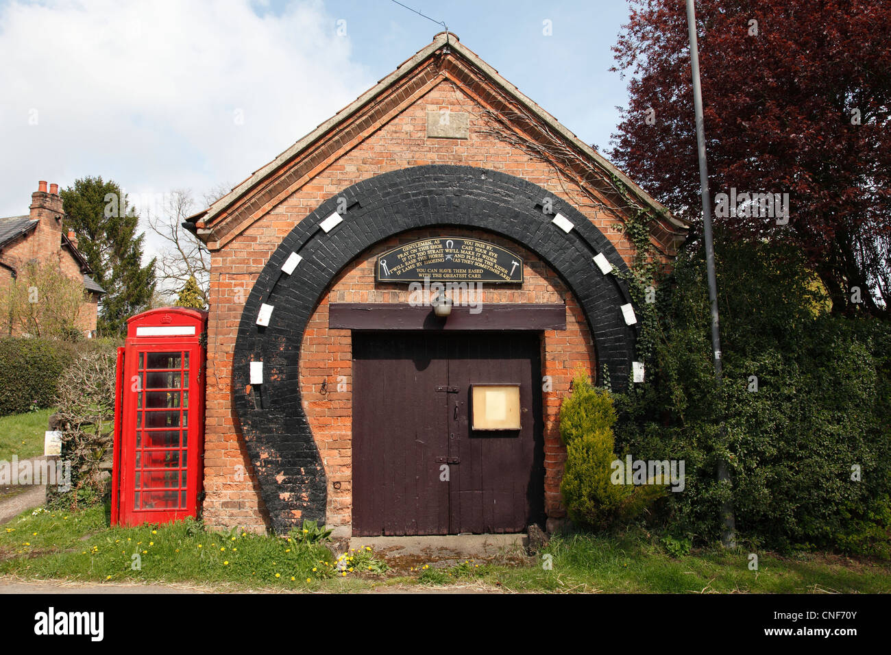 The old forge in the village of Gonalston, Nottinghamshire, England, U.K. - Stock Image