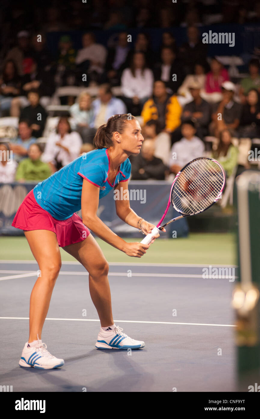 Professional tennis player, Flavia Pennetta. Stock Photo