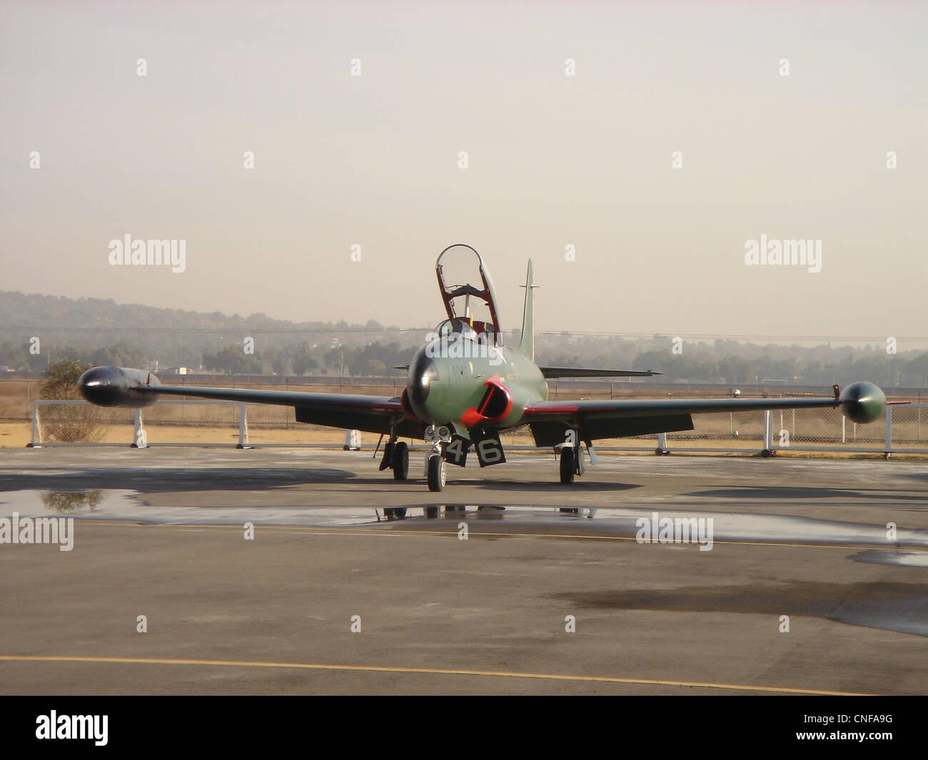 T-33 in Santa Lucia AFB. - Stock Image