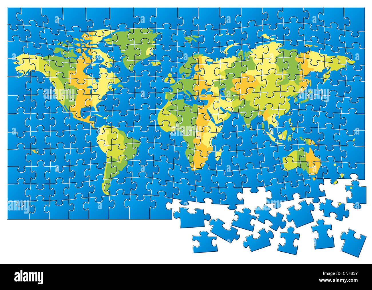 Jigsaw Puzzle World Map Stock Photos & Jigsaw Puzzle World Map