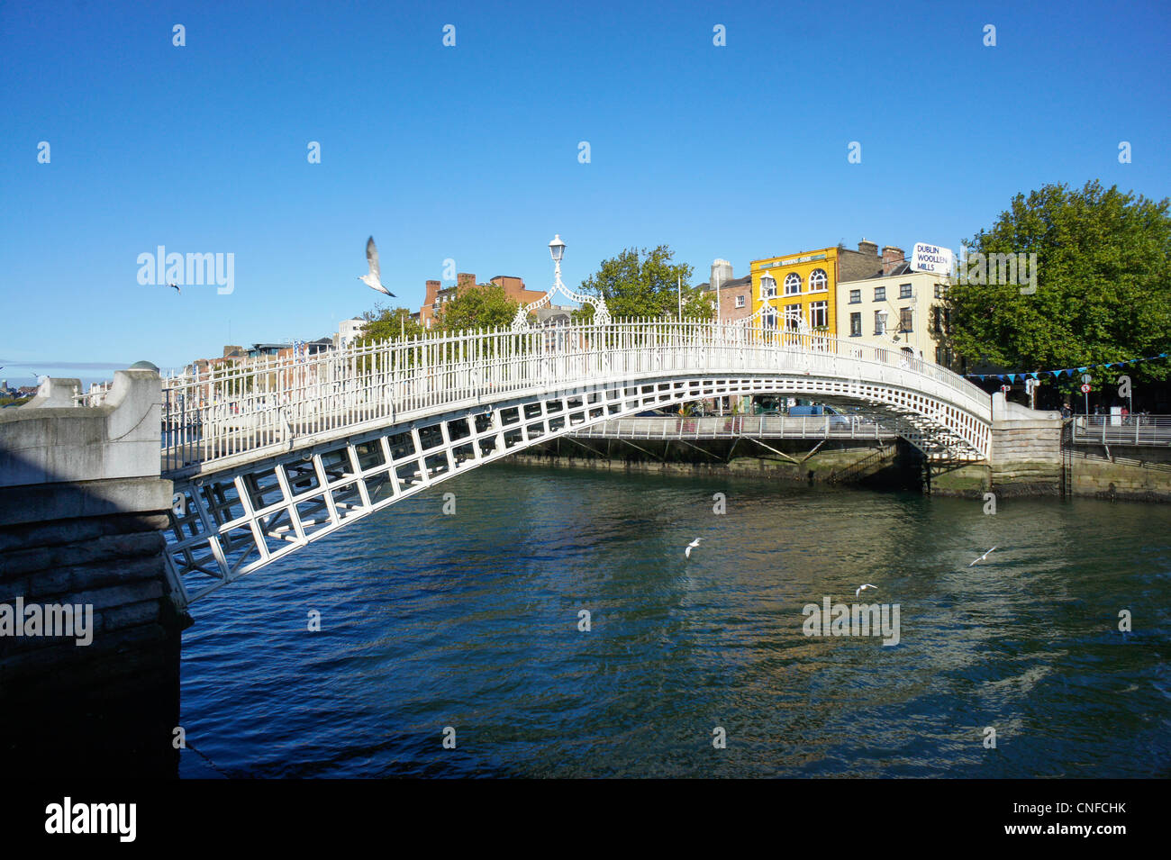Ha'penny Bridge in Dublin - Stock Image