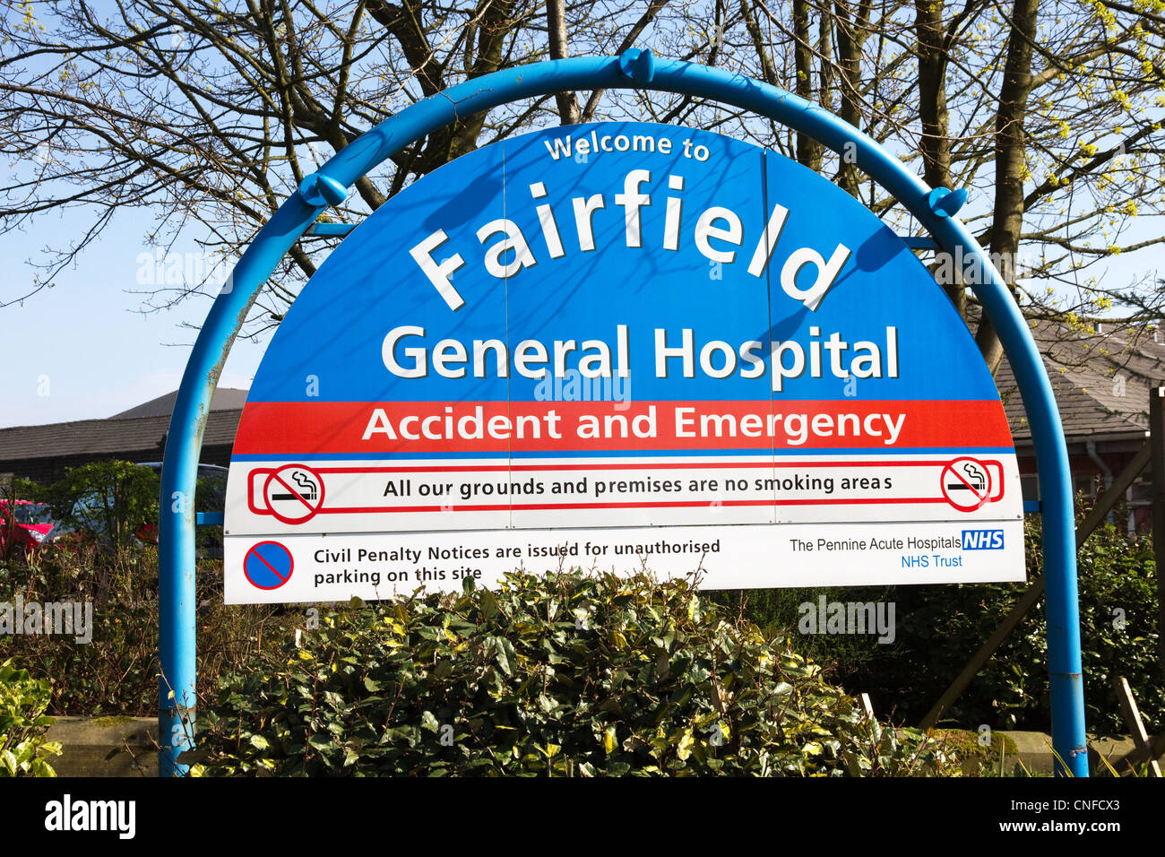 Fairfield General Hospital , Pennine Acute Hospitals NHS Trust, Bury, Greater Manchester, England, UK - Stock Image