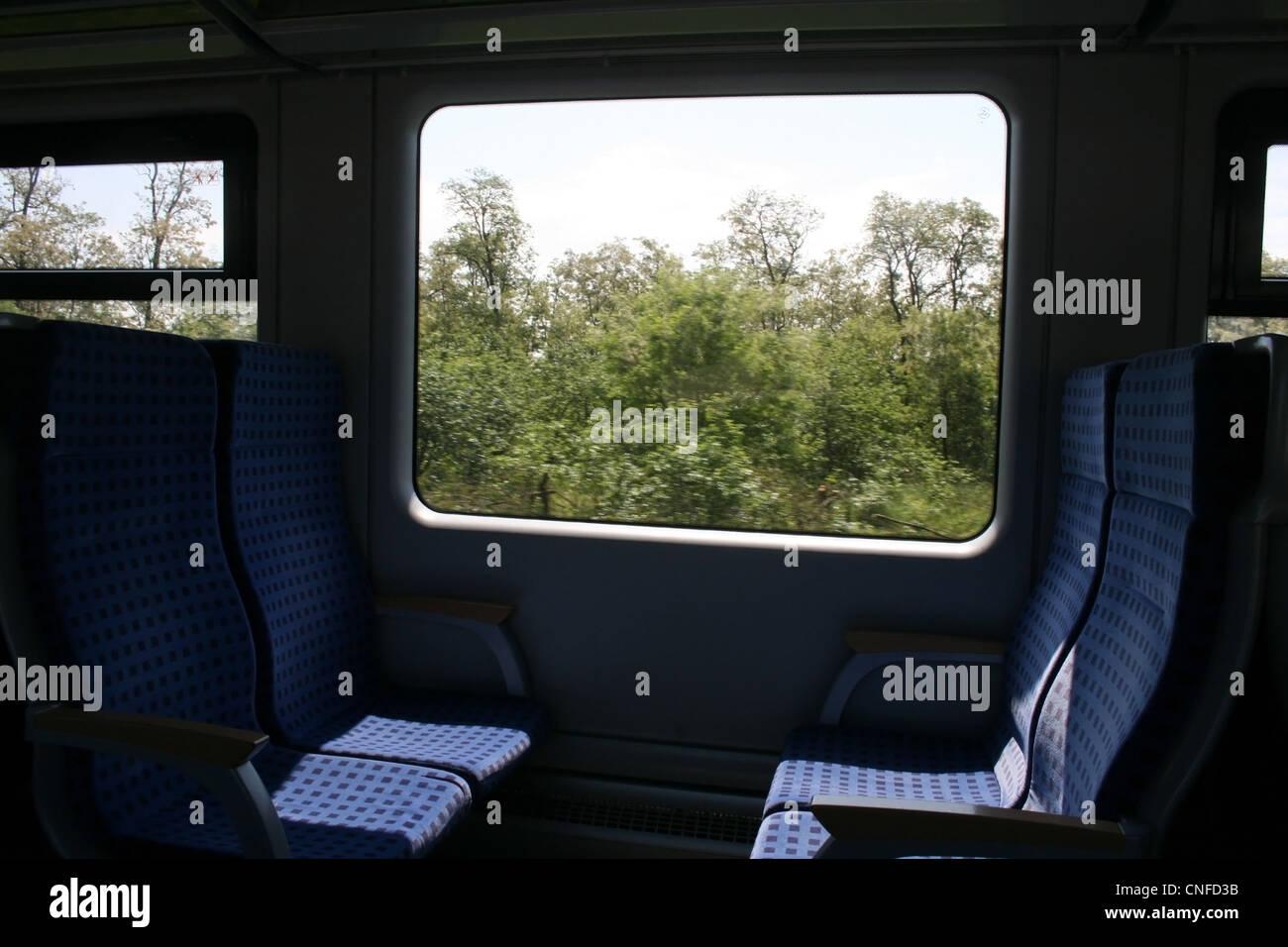 Siemens Desiro seats Stock Photo